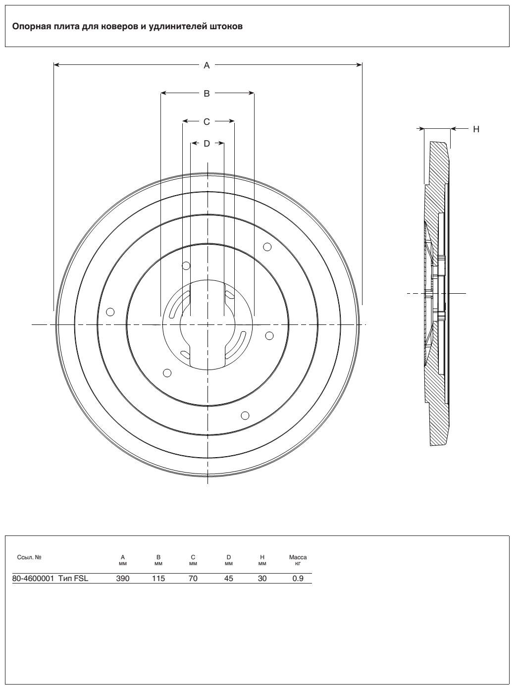 AVK опорная плита типа FSL